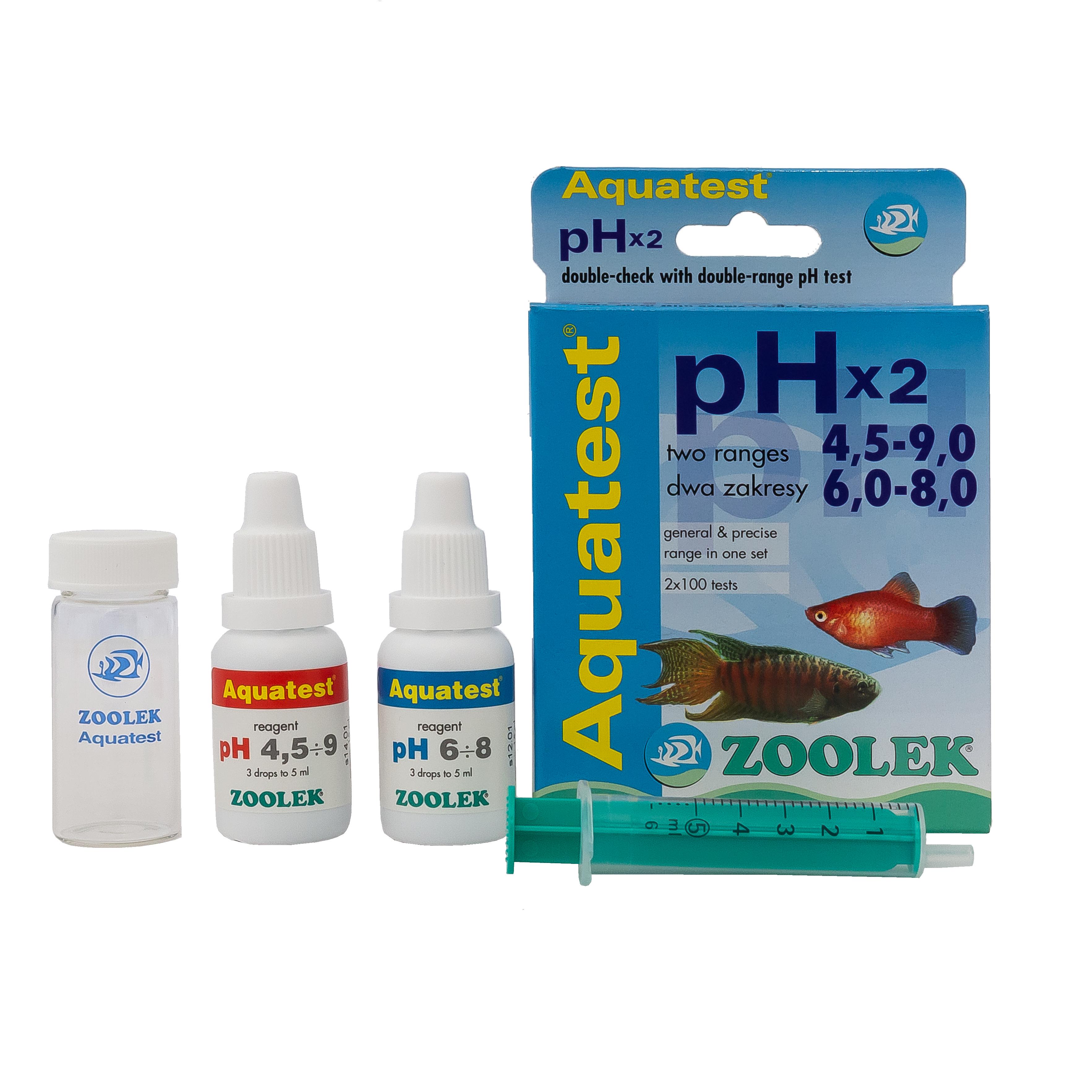 Aquatest pHx2 – test wody