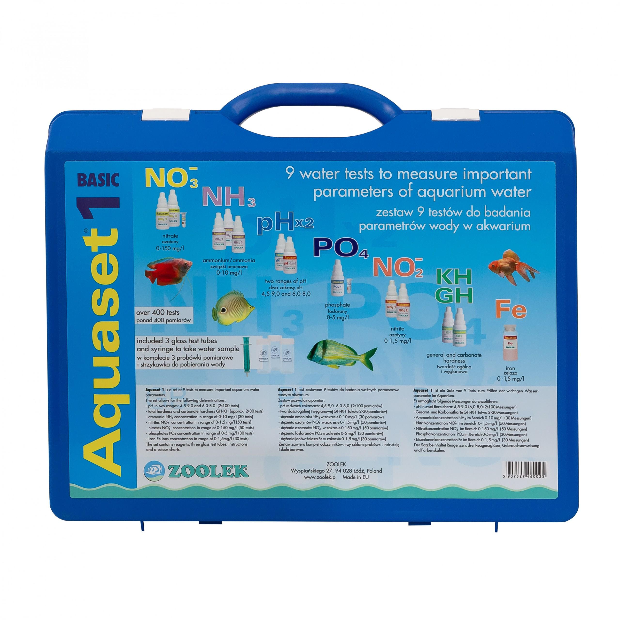 Aquaset 1 – zestaw testów wody